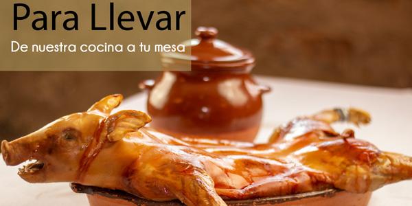 Cochinillo al horno para llevar en Segovia