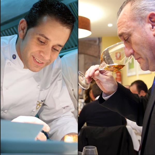 Óscar Calle y Ángel Peña, chef y sumiller de Venta Magullo